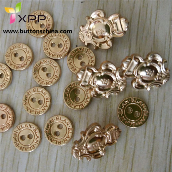 Rose Gold Metal Button with Logo