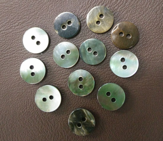 4 Hole Mother of Pearl Button Black Shell Button