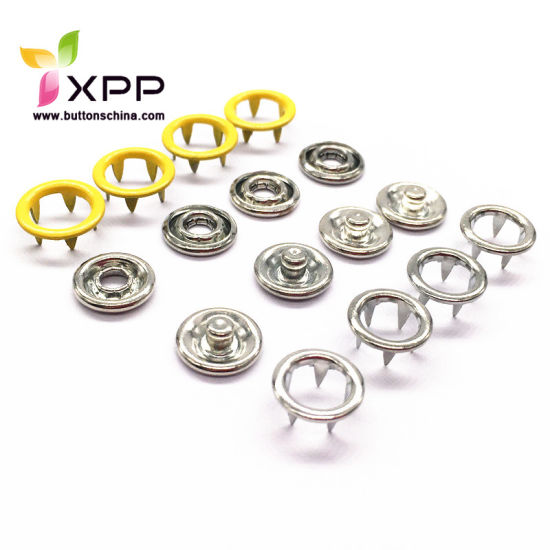 Nickle Free Ring Snap Prong Button for Baby Garments