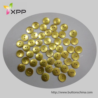 13mm 2 Hole Gold Button