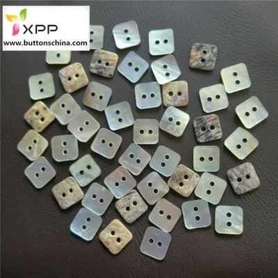 Natural Square Shell Button