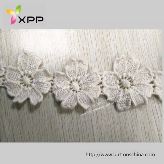 3.5cm Cotton Lace off White Dyeable