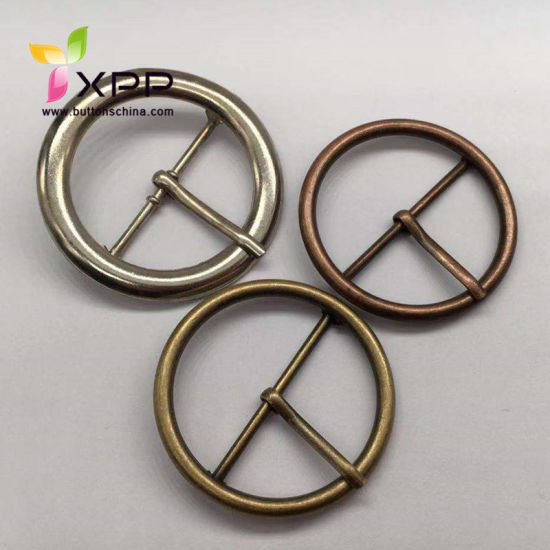 Metal Round Buckle with Brass Pin for Decoration Garments and Bag