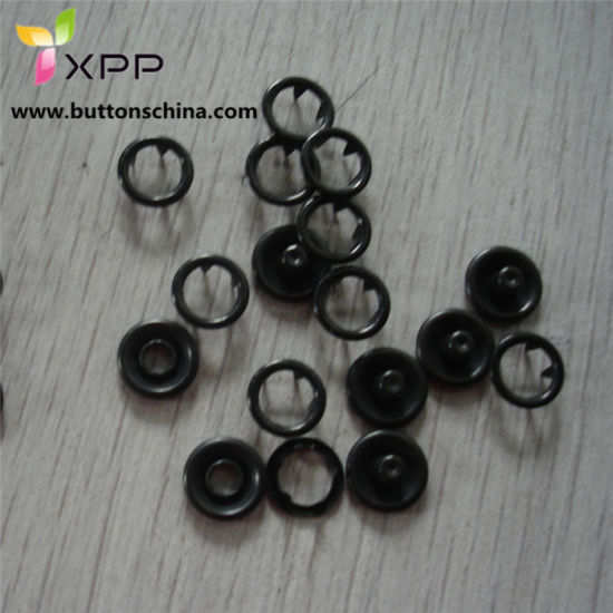 Black Color Prong Snap Button Metal Button