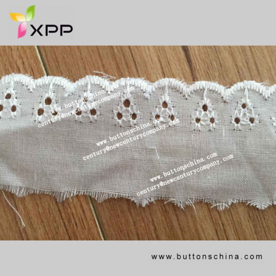 Cotton Fabric Lace Hole with Fashion